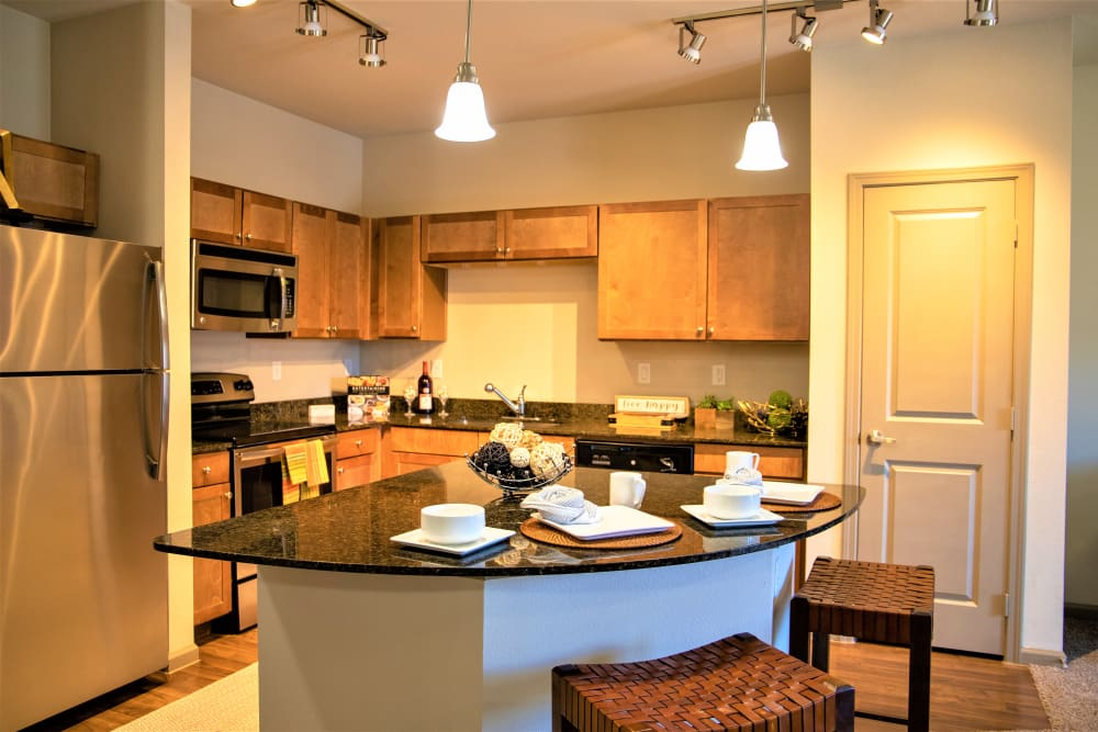 Gourmet kitchen at Enclave at Grapevine in Grapevine, Texas