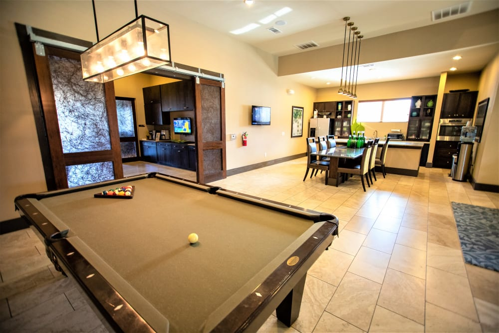 Billiards table at Enclave at Grapevine in Grapevine, Texas