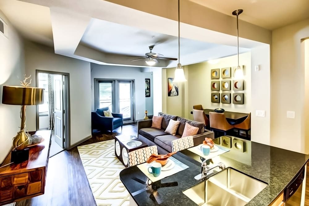 Spacious living room at Enclave at Grapevine in Grapevine, Texas