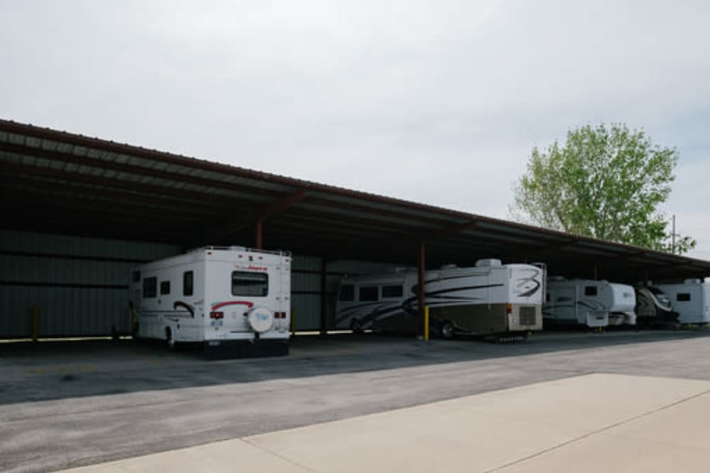RV parking at StayLock Storage in Marion, Indiana