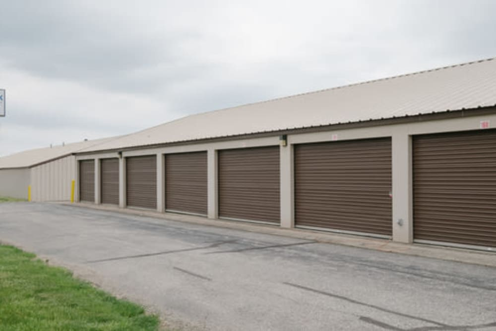 Large self storage units at StayLock Storage in Anderson, Indiana