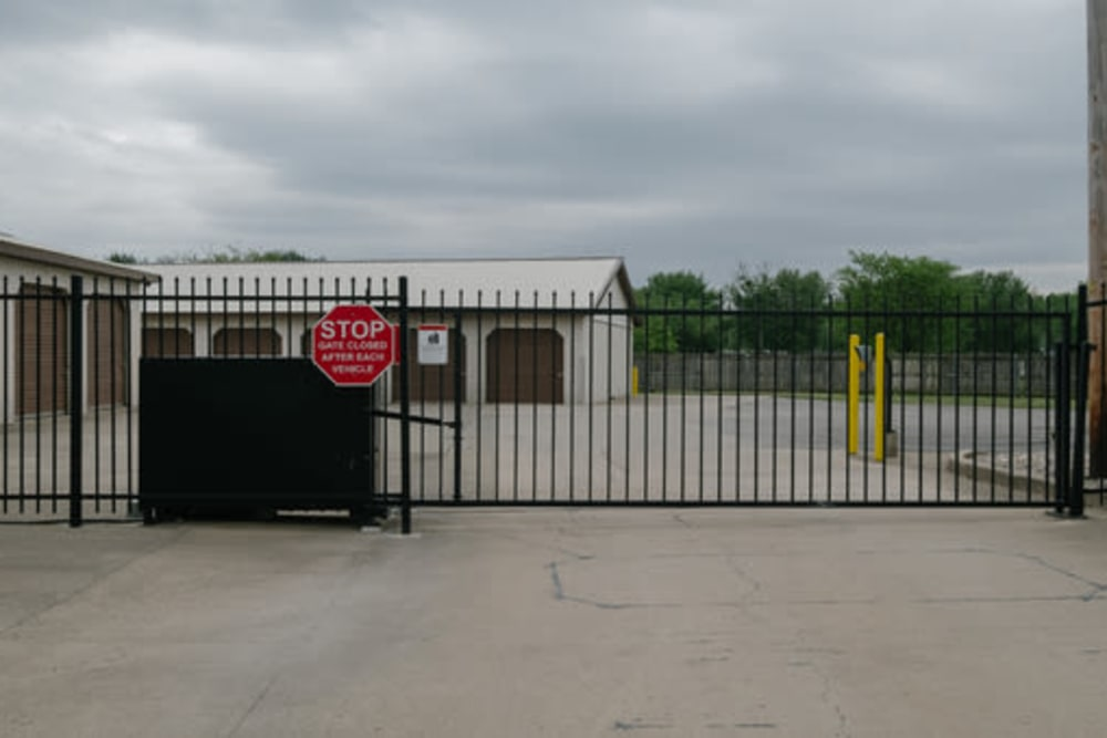 Gated entry to StayLock Storage in Anderson, Indiana