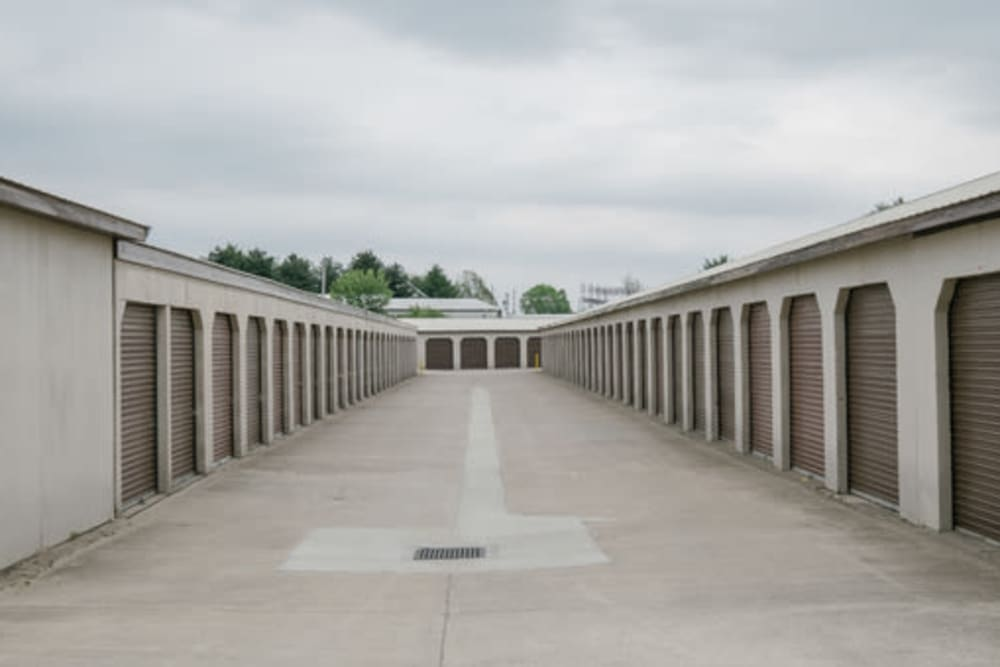 Driveway through StayLock Storage in Anderson, Indiana