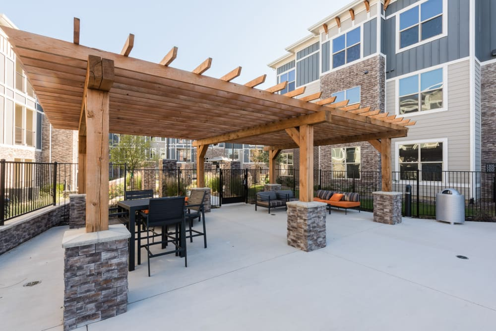 Outdoor grill area at Enclave at Westport in Roanoke, Texas