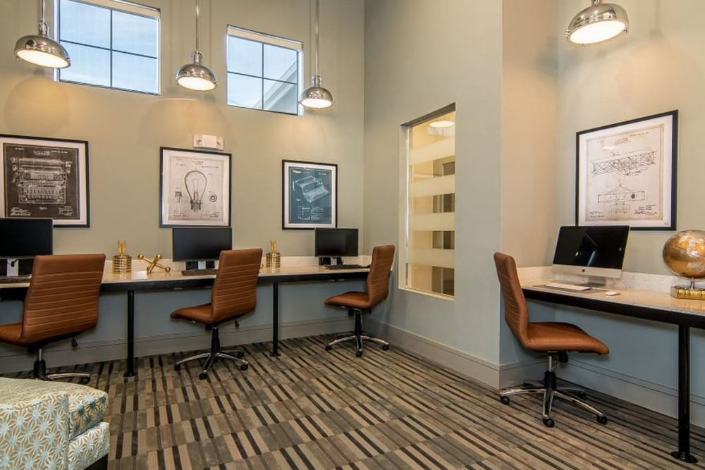 Business center at Enclave at Westport in Roanoke, Texas