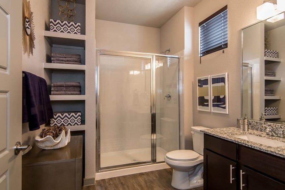 Master bathroom at Enclave at Westport in Roanoke, Texas