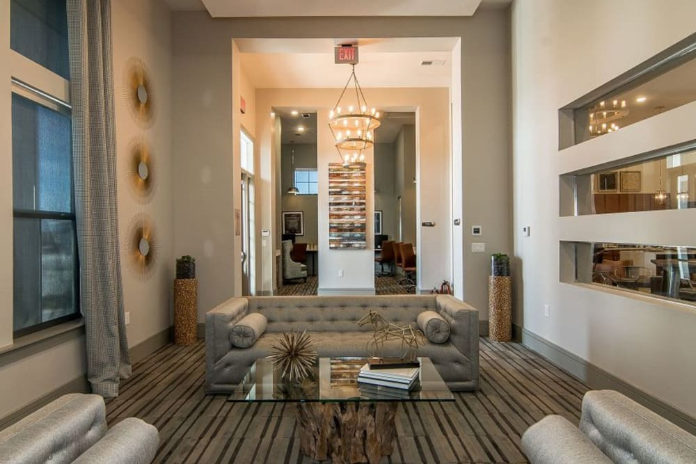 Entertainment lounge at Enclave at Westport in Roanoke, Texas
