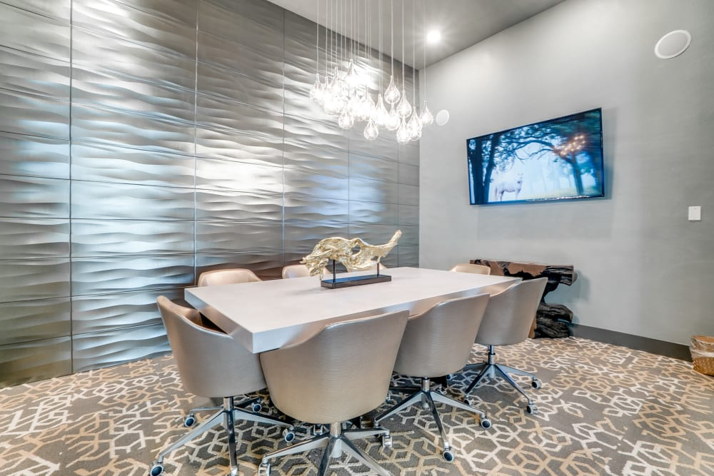 Conference room at One90 Firewheel in Garland, Texas