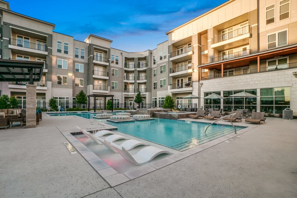 Swimming pool at One90 Firewheel in Garland, Texas