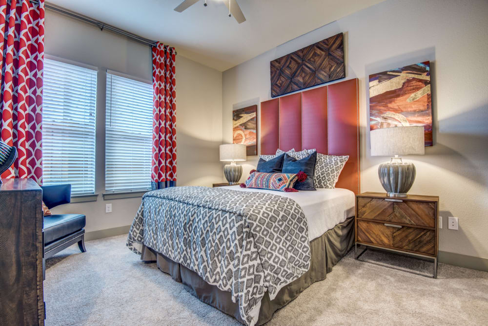 Master bedroom at Two99 Monroe in Roanoke, Texas