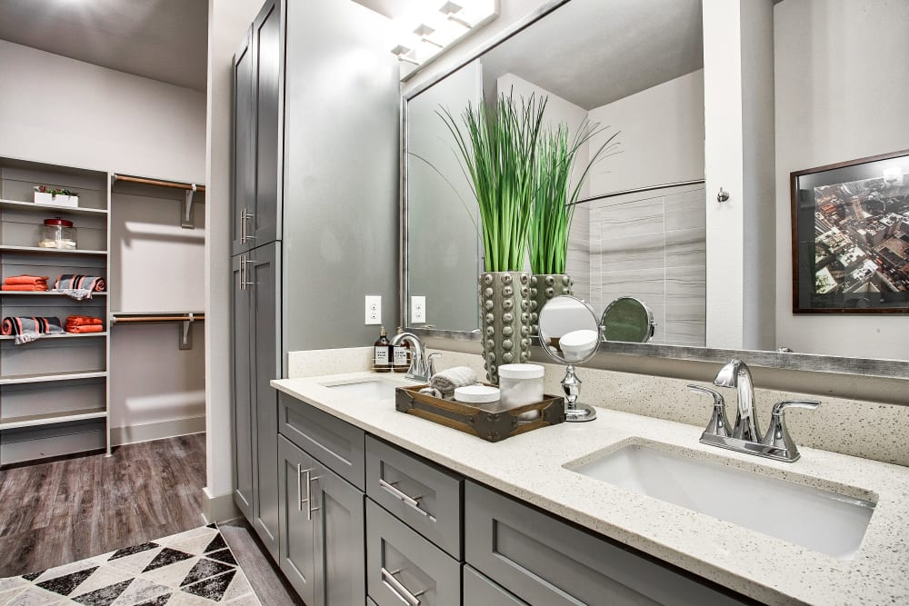 Master bathroom at Two99 Monroe in Roanoke, Texas