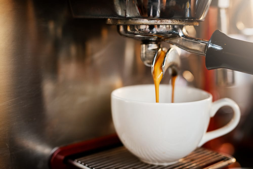 Coffee brewing at Three77 Park in Fort Worth, Texas