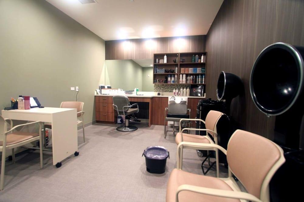 An onsite hair salon at Anthology of Wheaton in Wheaton, Illinois