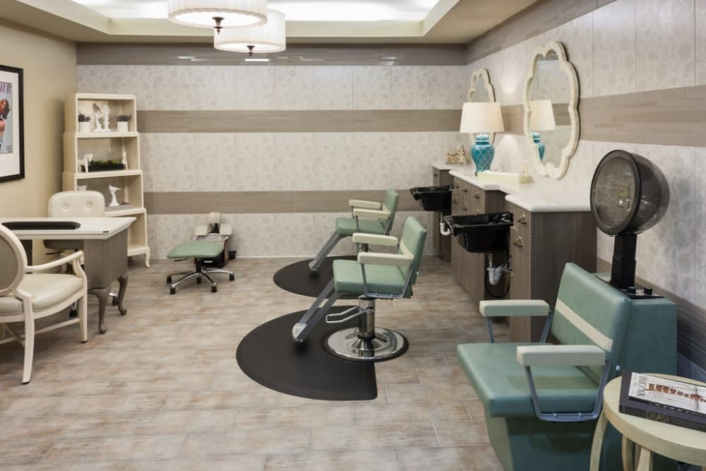 An onsite hair salon at Anthology of Stonebridge Ranch in McKinney, Texas