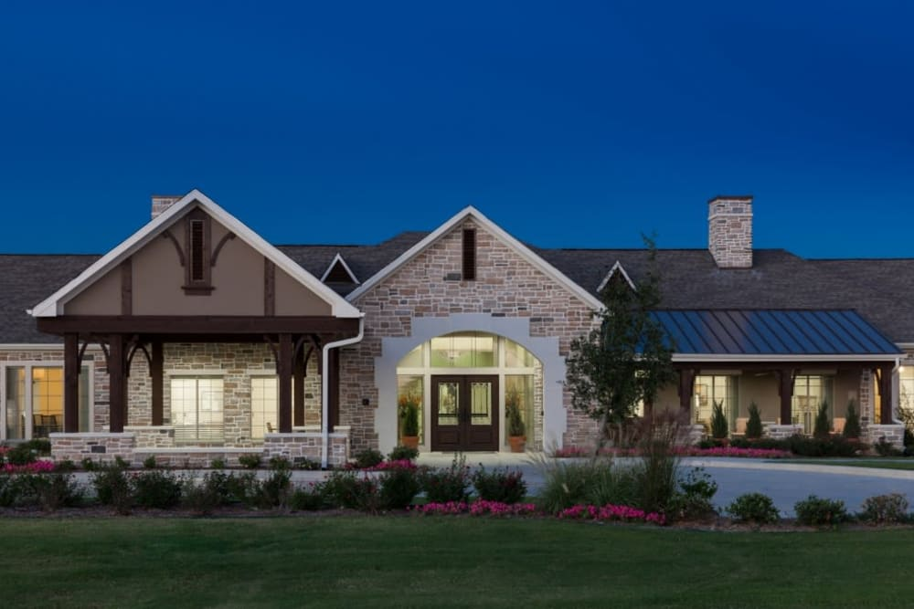 The main entrance at Anthology of Stonebridge Ranch in McKinney, Texas