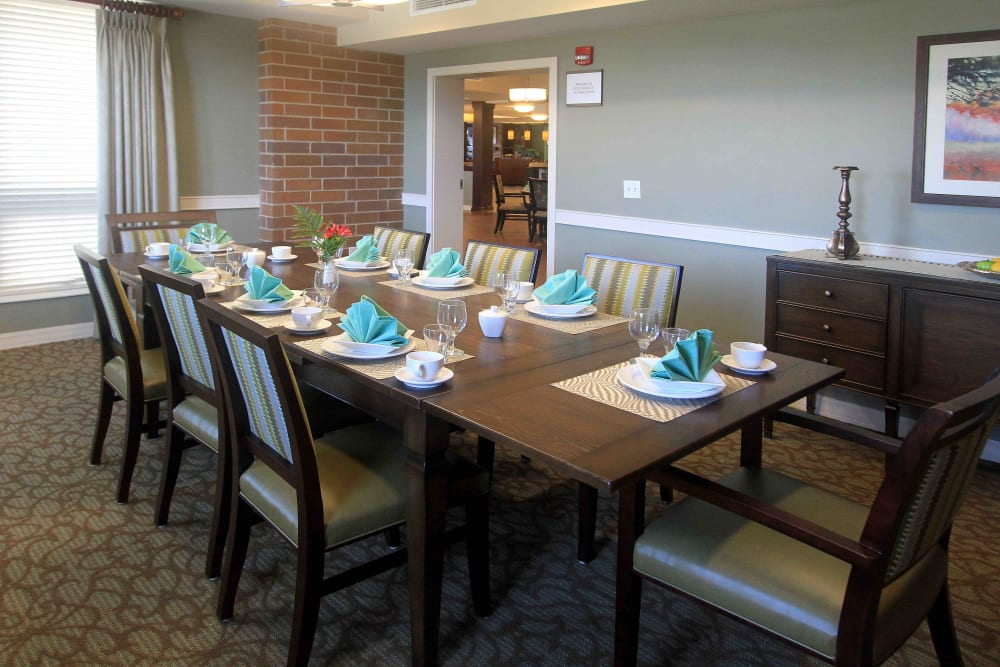 A private dining room at Anthology of Grayslake in Grayslake, Illinois