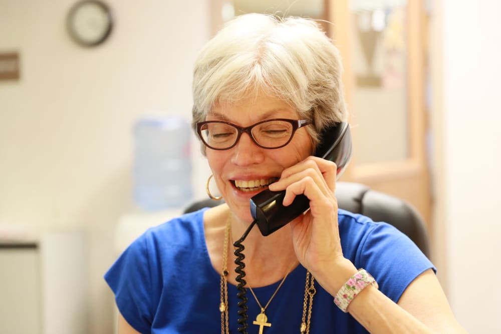 Management taking a call at Serenity in East Peoria, Illinois