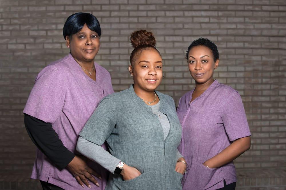 3 nurses at Villa at the Lake in Conneaut, Ohio