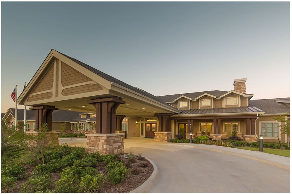 The main entrance at Anthology of Denton in Denton, Texas