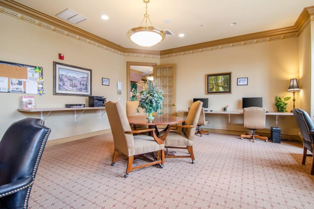 The 24 hour work area at Central Park Estates in Novi, Michigan