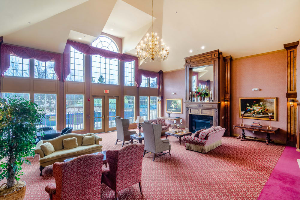 The lobby at Central Park Estates in Novi, Michigan