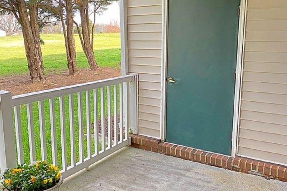 Apartment entrance at Glade Creek Apartments in Roanoke, Virginia