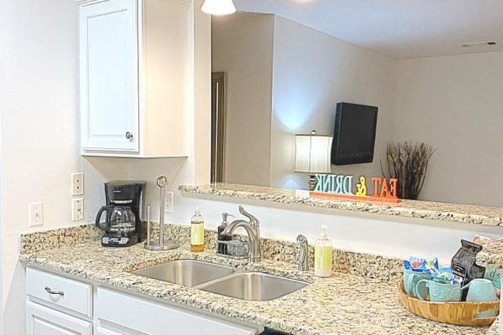 Kitchen at Glade Creek Apartments in Roanoke, Virginia