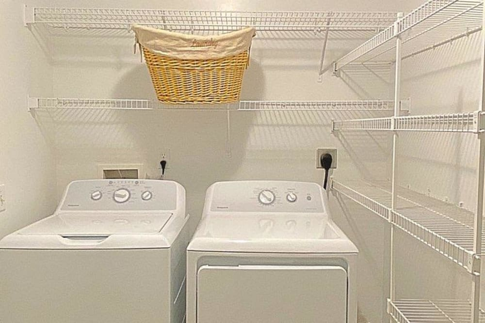 Laundry room at Glade Creek Apartments in Roanoke, Virginia