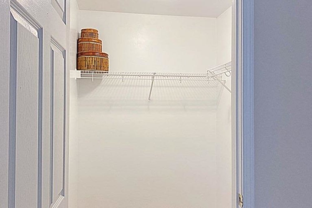 Spacious closet at Glade Creek Apartments in Roanoke, Virginia