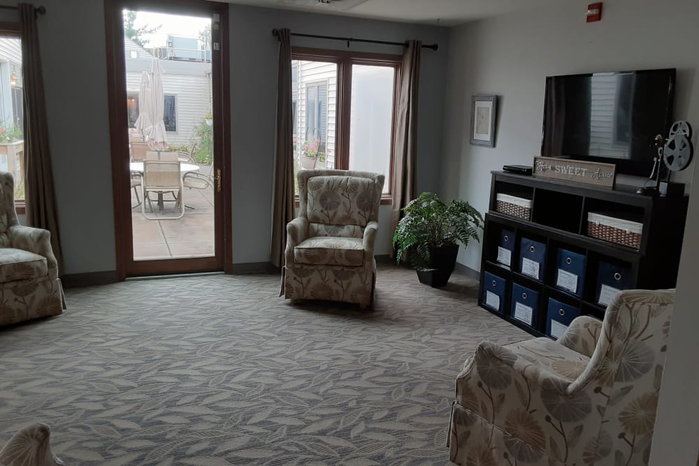 Spacious apartments with room for furniture at The Atrium in Rockford, Illinois.