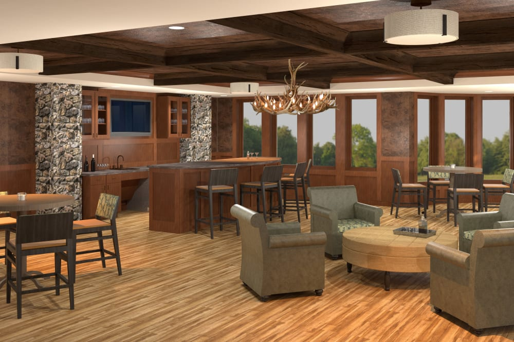 Resident pub at Willows Landing in Monticello, Minnesota.
