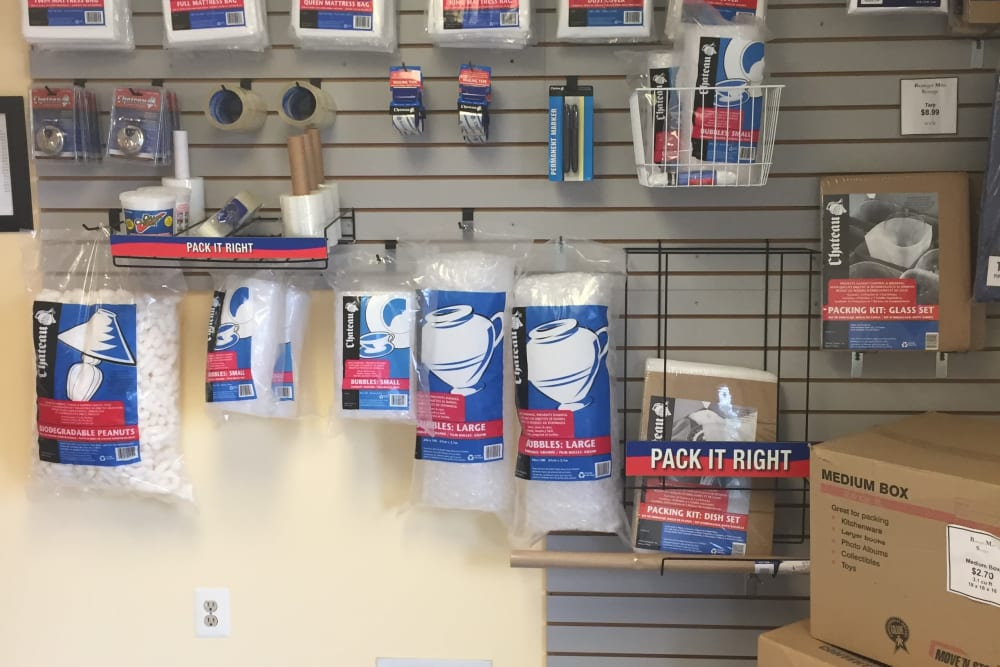 Moving and packing supplies at Store It All Self Storage - Barnegat