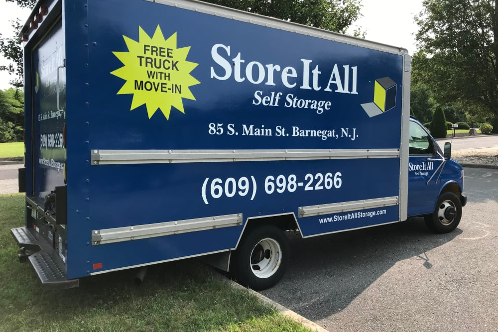 Moving truck at Store It All Self Storage - Barnegat