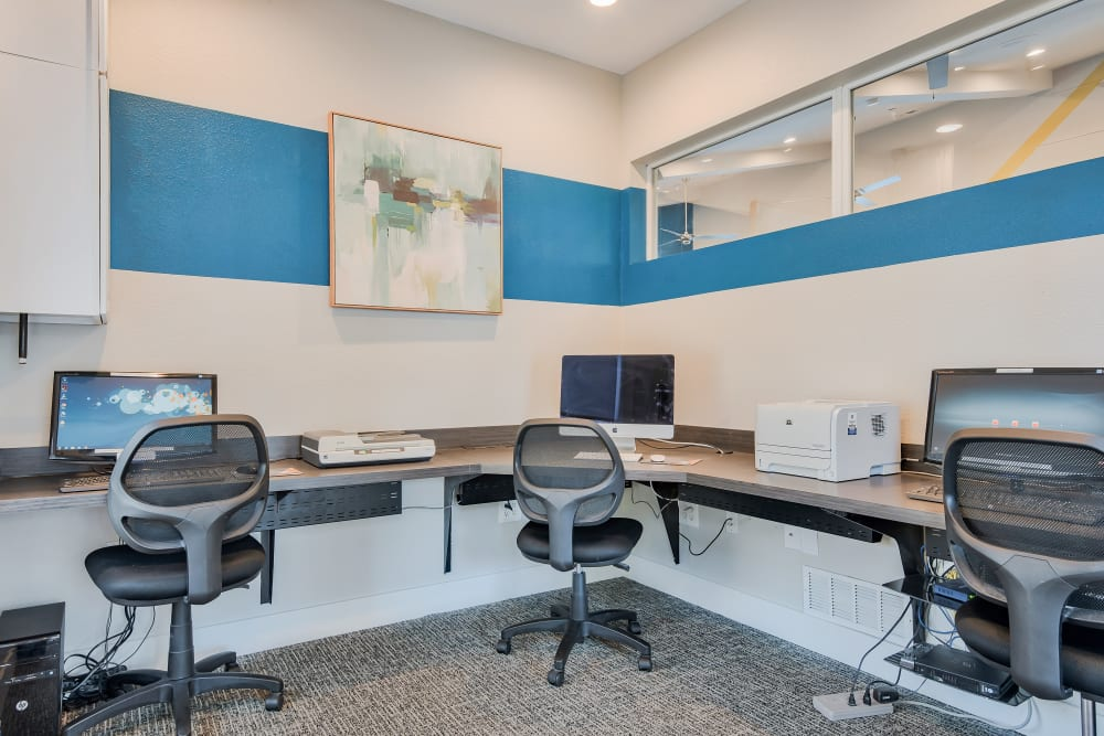 Business Center at Cornerstone Apartments in Independence, Missouri