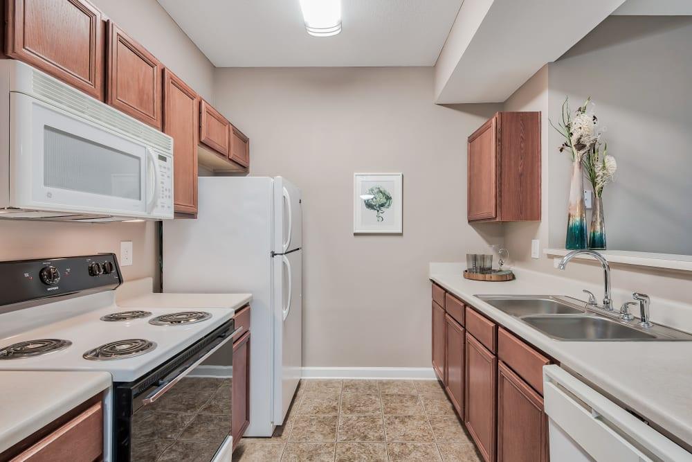 Kitchen at Cornerstone Apartments in Independence, Missouri