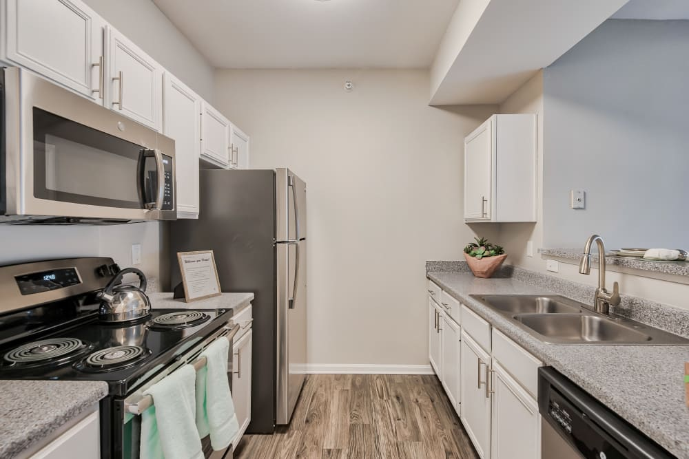 Kitchen at Cornerstone Apartments in Independence, MO