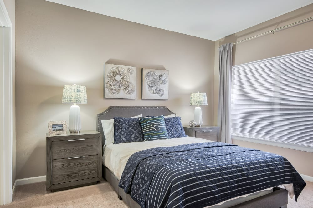 Bedroom at Cornerstone Apartments in Independence, Missouri