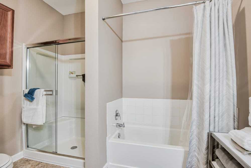 Bathroom at Cornerstone Apartments in Independence, Missouri