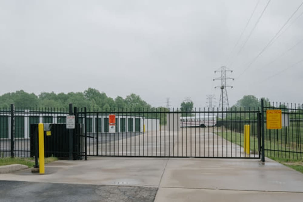 The gate at StayLock Storage in Muncie, Indiana