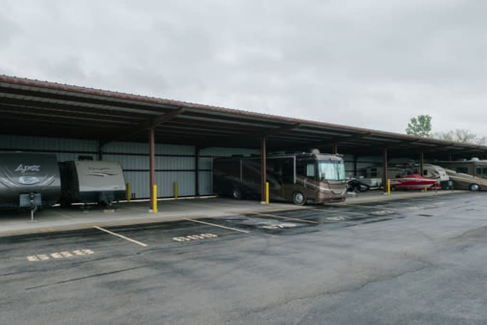 Covered RV parking available at StayLock Storage in Muncie, Indiana
