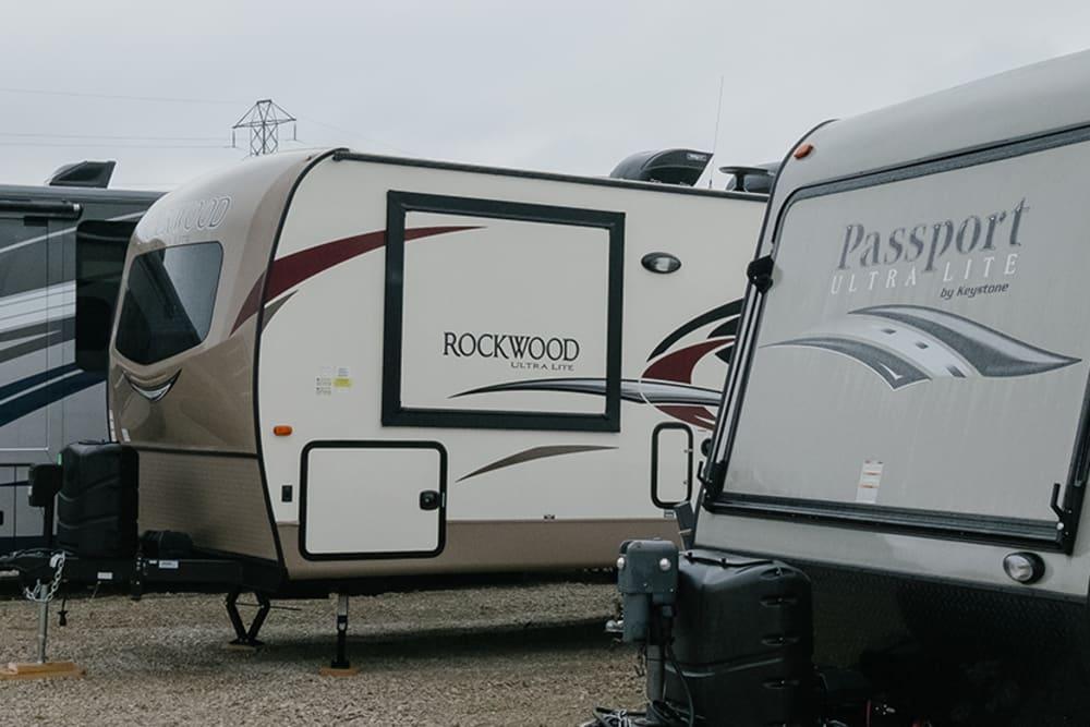 Outdoor RV storage at StayLock Storage in Muncie, Indiana