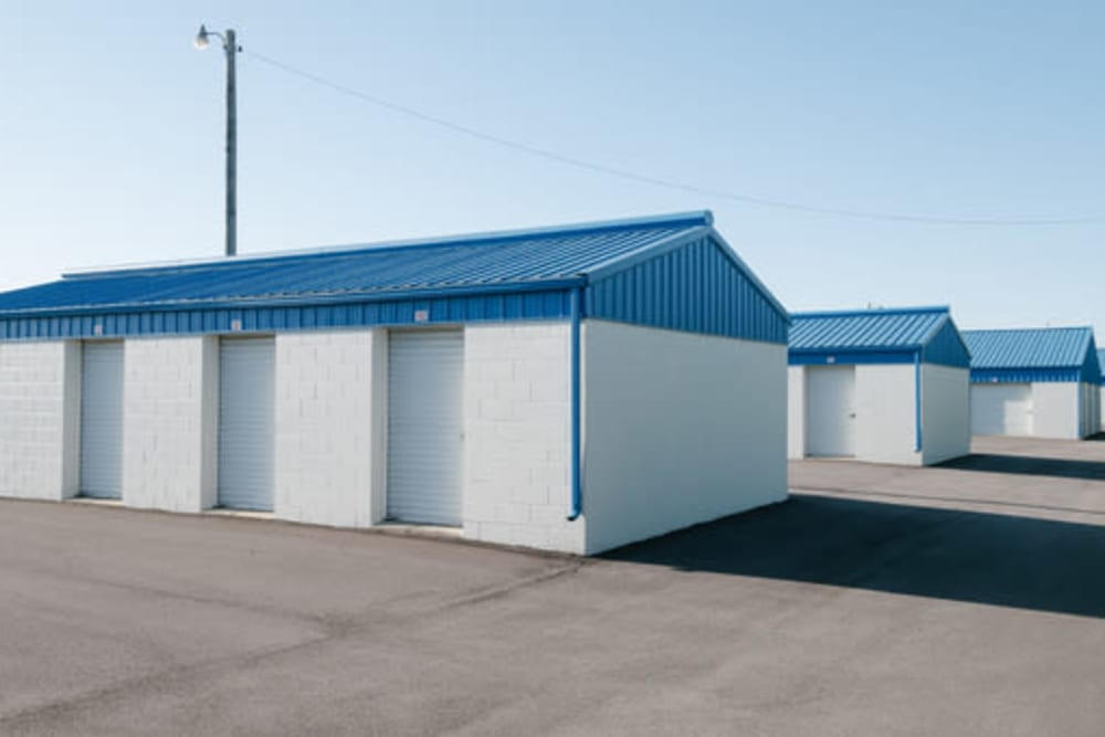 Exterior storage unit buildings at StayLock Storage in Frankfort, Indiana