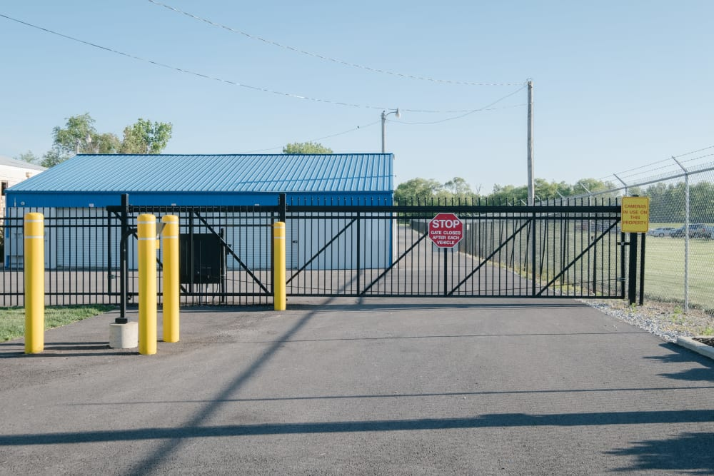 The front gate at StayLock Storage in Frankfort, Indiana