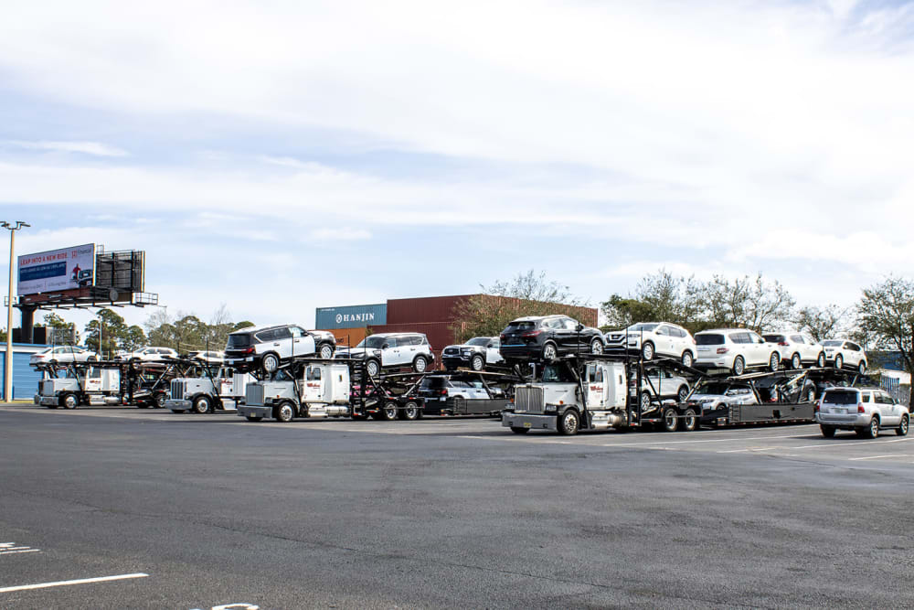 Truck parking at Atlantic Self Storage in Jacksonville, Florida