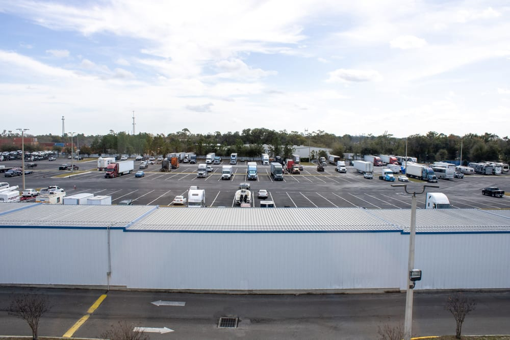 Parking lot at Atlantic Self Storage in Jacksonville, Florida