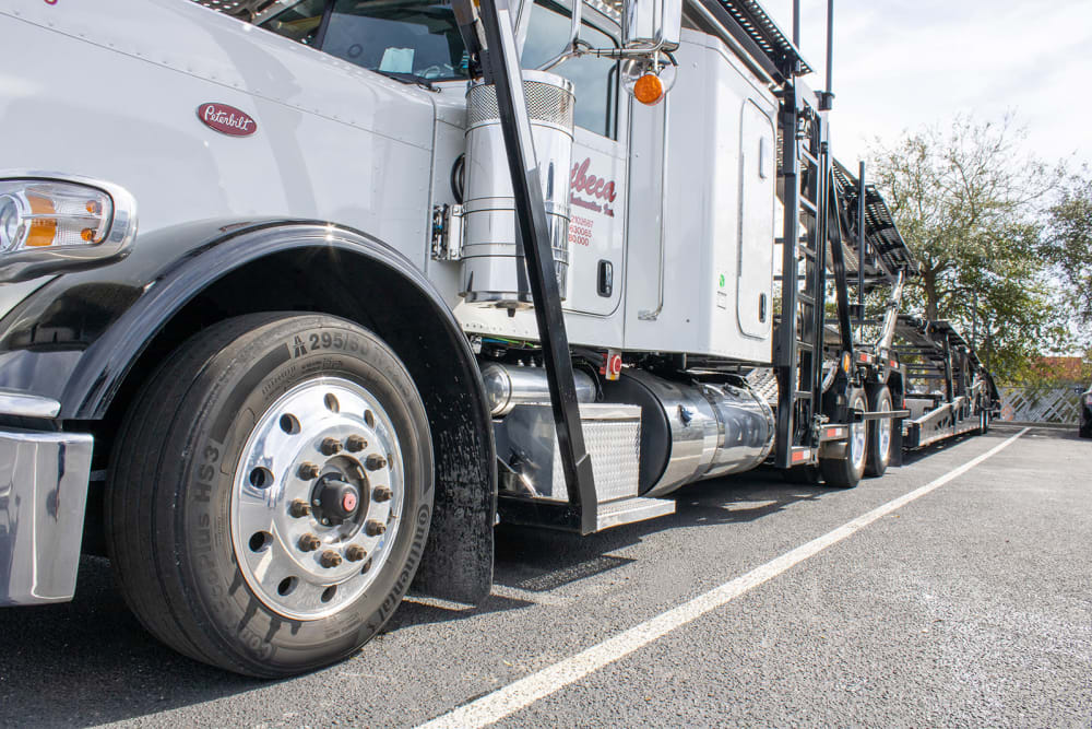 Truck close up at Atlantic Self Storage in Jacksonville, Florida