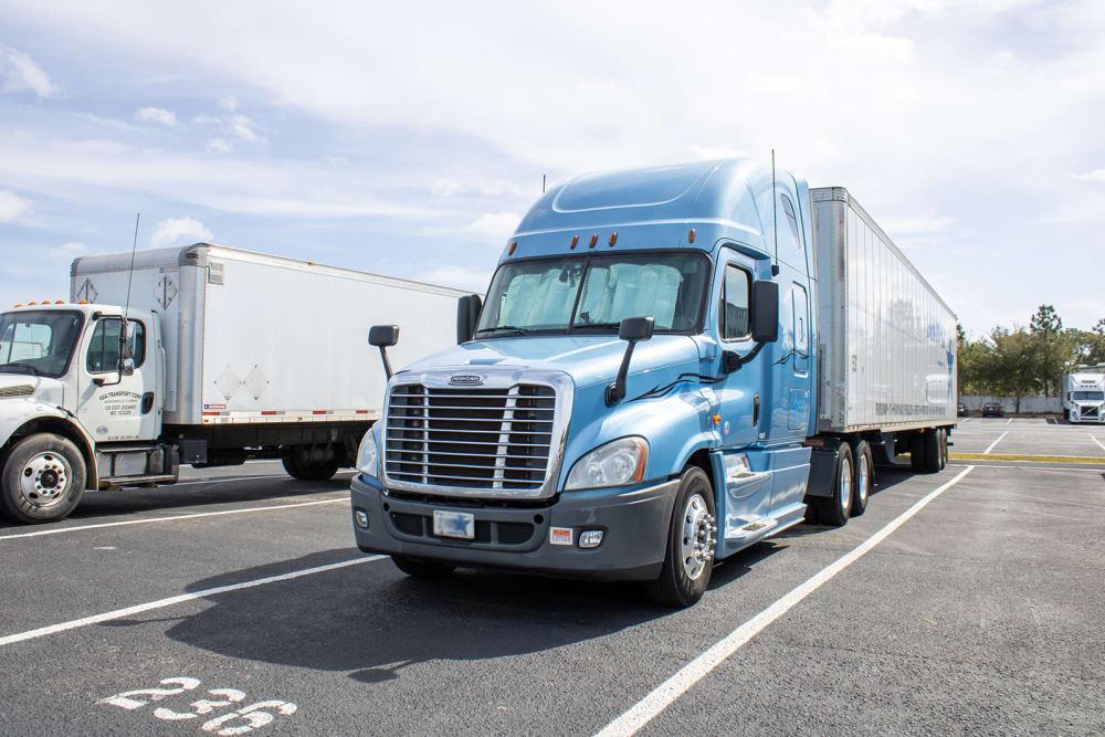 Semi truck at Atlantic Self Storage in Jacksonville, Florida