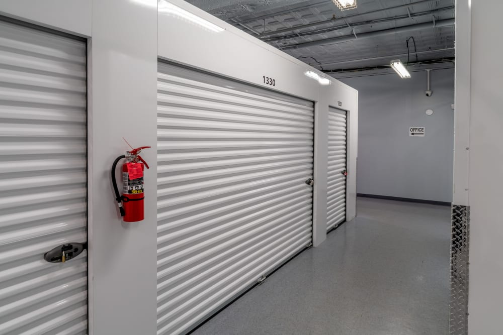 Large interior self storage units at StayLock Storage in Charleston, West Virginia