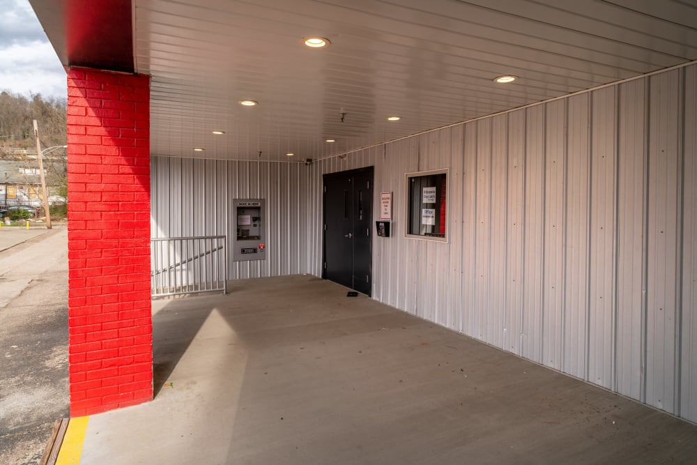 A doorway in the breezeway at StayLock Storage in Charleston, West Virginia