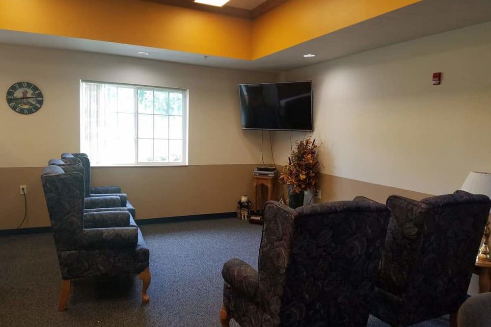 Resident TV room at Holstein Senior Living in Holstein, Iowa.
